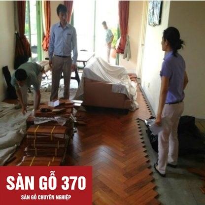 Sàn gỗ Căm xe xương cá