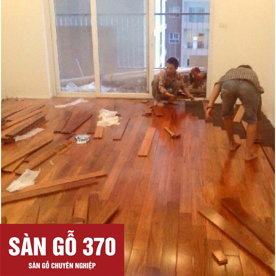 thi công ván sàn gỗ giáng hương