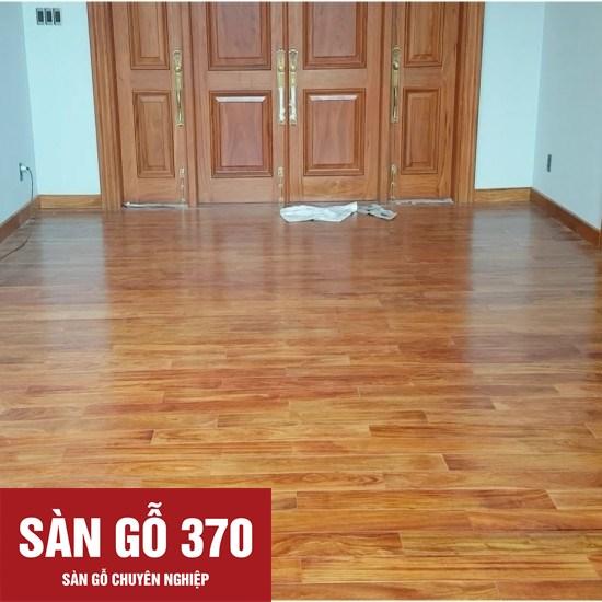 sàn gỗ gõ đỏ tại công trình nhà dân