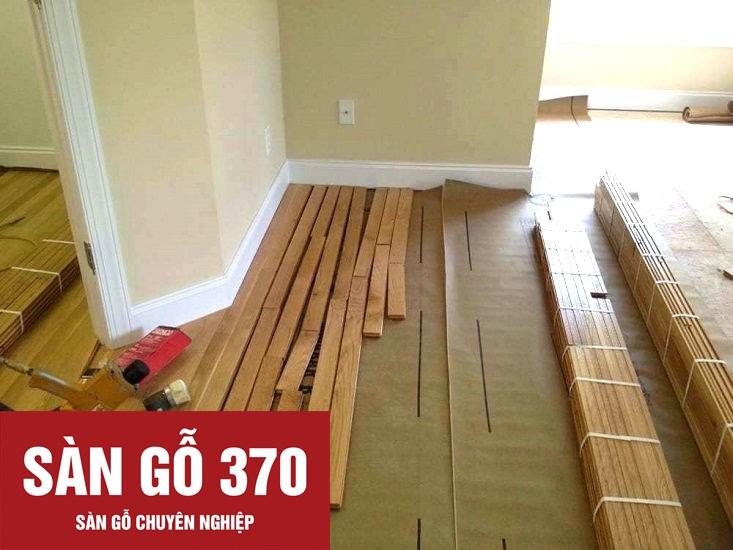 thi công lắp đặt sàn gỗ sồi cao cấp